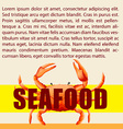 Seafood and text design vector image