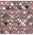 Seamless pattern of triangles brown background vector image