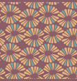 seamless warm pattern with retro flowers vector image vector image