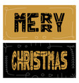 set christmas giveaway cards with handwritten vector image vector image