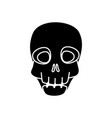 skull dead halloween isolated icon vector image vector image