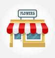 small shop icon - little store facade vector image vector image