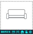Sofa icon flat vector image vector image