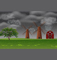storm at the farm vector image vector image