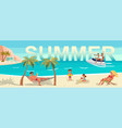 summer beach landscape background vector image vector image