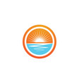 sun icon logo and symbols template design vector image