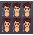 sunglasses shapes 1 vector image vector image