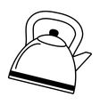 tea kettle beverage isolated icon vector image vector image