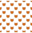 Tiger head pattern cartoon style vector image