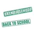 Two textured stamps Back to School vector image vector image
