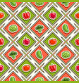 vegetable seamless pattern vector image vector image