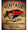 vintage car tee graphic design vector image vector image