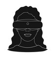 virtual reality glasses single icon in black style vector image vector image