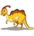 Yellow dinosaur standing alone vector image vector image
