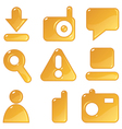 Media amber icons vector image
