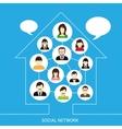 Social network house vector image