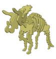 3d dinosaurus skelet on white background vector image