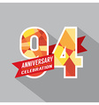 94th Years Anniversary Celebration Design vector image vector image