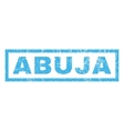 Abuja Rubber Stamp vector image vector image