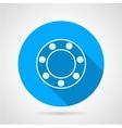 Ball bearing flat icon vector image