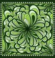 bandana print with fantasy flower in green color vector image