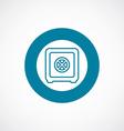 bank safe icon bold blue circle border vector image