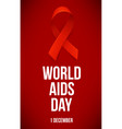 banner with realistic red ribbon poster with vector image vector image