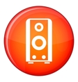 Black sound speaker icon flat style vector image vector image