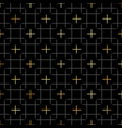 black squares and gold star geometric pattern in vector image