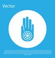 blue symbol jainism or jain dharma icon vector image vector image
