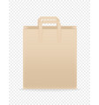 brown paper craft shopping bag template vector image