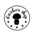 Brush lettering label for barber shop vector image vector image