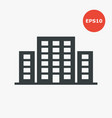 building icon in flat style vector image vector image