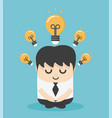 businessman doing meditation and get new idea vector image vector image