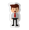 businessman funny character icon vector image vector image