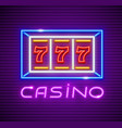 casino playing slot-machine vector image vector image
