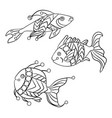 coloring pages for children and adults with set vector image vector image