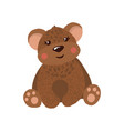 cute hand drawn teddy bear isolated on white vector image vector image
