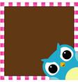 Cute owl baby boy arrival card vector image vector image