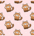 cute red panda seamless pattern background vector image vector image