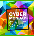 cyber monday concept abstract background of vector image vector image