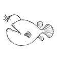 deep-sea fish vector image vector image