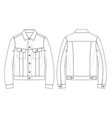 denim jacket vector image