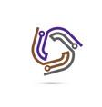 digital electronics logo design vector image vector image