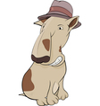 Dog in a hat vector image vector image