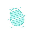 egg easter festival icon design vector image vector image