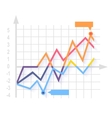 Financial Growth Coin Stock Market vector image