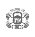 fitness sport club isolated black emblem vector image vector image