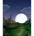 Forest at night vector image vector image