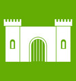 fortress with gate icon green vector image vector image